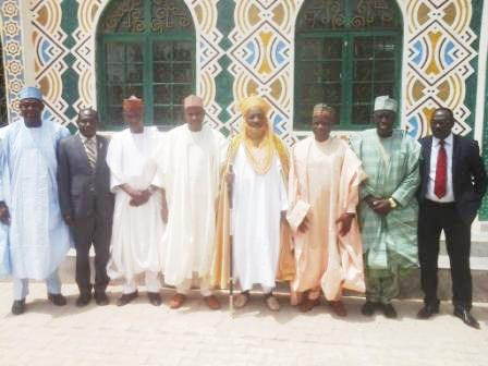 NNDC's Management in a group photograph with Emir of Dutse. His Royal Highness Dr. Mahammadu Sanusi