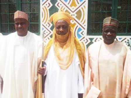 Emir of Dutse (middle), Chairman NNDC (right) and GMD NNDC (left)