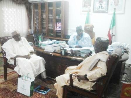 Chairman of NNDC (right) and the GMD of NNDC in Gov Mohammed Abubakar esq of Bauchi State office