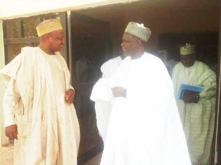 Left. Gov Atiku Bagudu of Kebbi State and Chairman of NNDC Alh. Bashir Moh. Dalhatu (Wazirin Dutse)