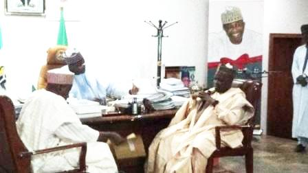 NNDC's Chairman (right) and GMD (left) with Bauchi State Governor His Excellency Mohammed Abubakar esq in the Governor's Office, Bauchi