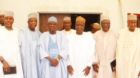 NNDC's Mangagement in a group photograph with the Deputy Governor of Gombe State. Rt. Hon Charles Iliya Ya'u (2nd left)
