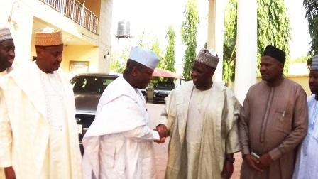 Chairman of NNDC in a handshake with the Executive Governor of Zamfara State. Alhaji Abdulazeez Yari
