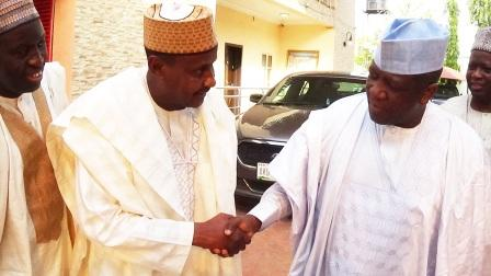GMD of NNDC (left) in a handshake with the Executive Governor of Zamfara State. Alhaji Abdulazeez Yari