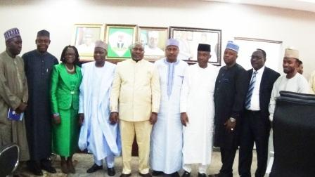 NNDC's Management in a group photograph with Officials of Kogi State Government. Rt. Hon. Somin Achuba, Deputy Governor (3rd left)