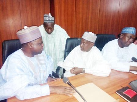 NNDC Delegation inside the ante-chamber, Government House, Maiduguri