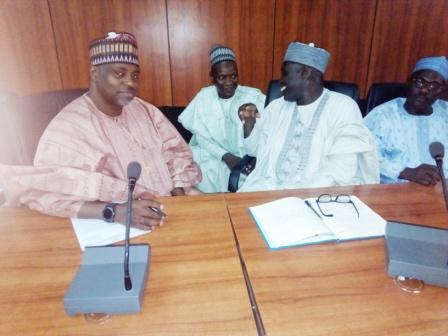 NNDC Executive Directors, consulting  with MD NCPL inside the ante-chamber, Government House, Maiduguri