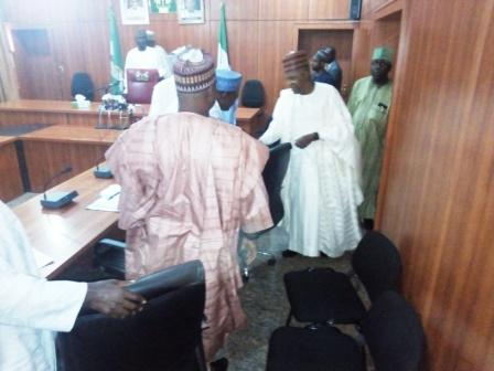 The Executive Governor of Borno State. His Excellency, Alhaji Kashim Shettima arrives the ante-chamber in Govermnent House, Maiduguri