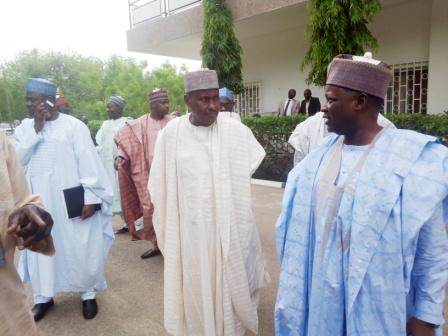 NNDC Delegation inside Government House, Maiduguri