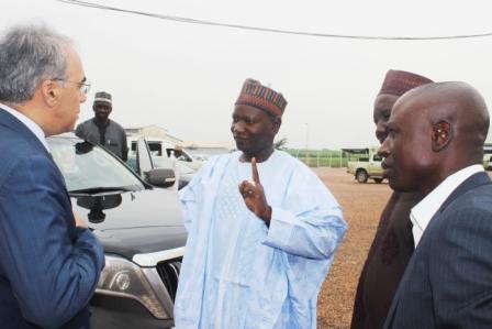 MD of KTL. Alh. Moh. Bukar Umar briefing the Turkish delegation shortly after their arrival in Nigeria