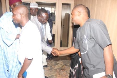 CS/LA NNDC Barr. Barnabas Baba welcoming the Ag. Sec. Baba Negedu Martins, Correspondent's Chapel, Kaduna to NNDC Limited