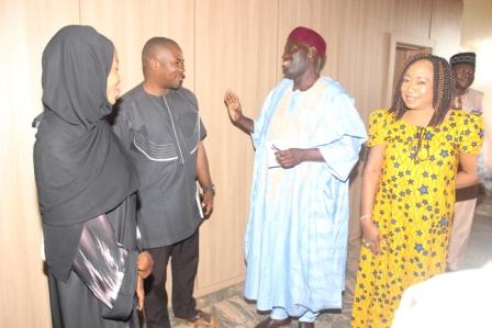 ED BD/CP NNDC in a chat with Ag. Secretary Correspondent's Chapel, Kaduna